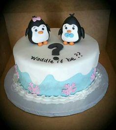 Cuteee gender reveal cake!