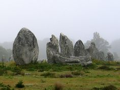 """""""Megalithic Stones at Menhirs, Carnac, France"""