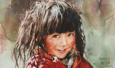 Watercolor Painter Uses Traditional Techniques to Reveal Expressive Faces of Tibet — My Modern Met Watercolor Portraits, Watercolour Painting, Painting & Drawing, Watercolours, Pastel Portraits, Art Chinois, Guache, Realistic Paintings, Henri Matisse