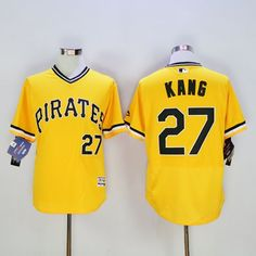 Pirates #27 Jung-ho Kang Gold Flexbase Authentic Collection Stitched MLB Jersey