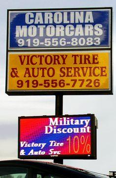 Full Color LED Sign, Carolina Motorcars