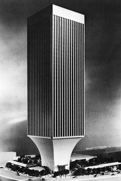 minoru yamasaki, rainier bank tower, seattle, washington, 1972-1977