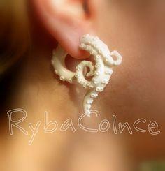 Fake ear tentacle gauges  Faux gauge/Gauge от RybaColnce на Etsy