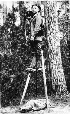 It took Sylvain Dornon 58 days to walk from Paris to Moscow on stilts back in 1891. Why he did it? Nobody knows.