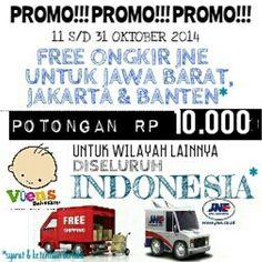PROMO!!.. PROMO!!.. PROMO!! -FREE ONGKIR JNE untuk JABAR, JAKARTA & BANTEN - POTONGAN IDR 10.000 UNTUK WILAYAH LAINNYA DISELURUH INDONESIA *syarat dan ketentuan berlaku 1. Promo ini berlaku untuk pembelanjaan minimal IDR 200.000 setelah diskon untuk pemegang kartu member Viens Baby Shop. 2. Promo ini berlaku untuk berat maksimal pengiriman 1kg. Apabila lebih maka customer membayar kelebihan ongkir dengan tarif normal. 3. Promo ini hanya berlaku untuk pengiriman via JNE. 4. Promo ini berlaku…