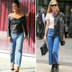 O couro é sempre uma boa sugestão para looks de outono/inverno.  De exemplo, estas duas inspirações lindas e criativas, da Christina Milian e da Kate Bosworth.♥️💫 #creative #fashion #streetstyle #christinamilian #katebosworth #fauxleather *Procurem usar couro falso!