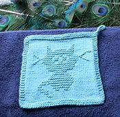 Ravelry: Little Kitty Dishcloth pattern by Louise Sarrazin