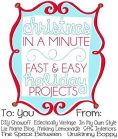 Christmas in a Minute: Fast & Easy Holiday Projects