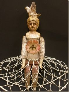 Artdoll by Clarissa Callesen made out of reclaimed objects