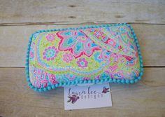Bright Floral Paisley Travel Baby Wipe Case by LauraLeeDesigns108