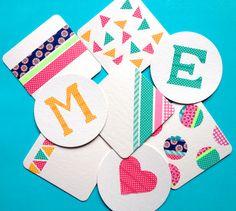 Washi Tape Coasters via Omiyage Blogs