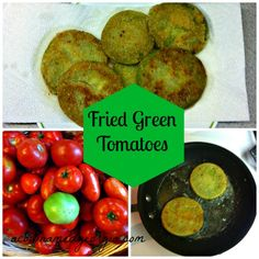 Directions for frying up green tomatoes - the perfect summertime treat!