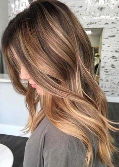 Helle braune strähnen haare Braune Haare