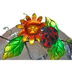Continental Art Center Metal Lady Bug Tabletop Fountain