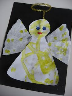 Easy angel craft for kids. Perfect for Christmas.