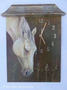 HORSE PORTRAIT PAINTED wall clock Equine art by CanisArtStudio