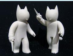 "SpankyStokes.com | Vinyl Toys, Art, Culture, & Everything Inbetween: Deth P. Sun x FOE Gallery - ""Cat with Dagger"" viny..."