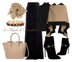 """Hijab Outfit"" by le-hijab-de-doudou ❤ liked on Polyvore featuring T By Alexander Wang, Burberry, Emilio Pucci, Valentino and The Limited"