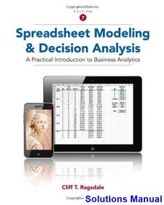 23 best solutions manual download images on pinterest textbook spreadsheet modeling and decision analysis a practical introduction to business analytics 7th edition cliff ragsdale solutions fandeluxe Images