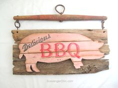 Piggy, Pork BBQ sign diy