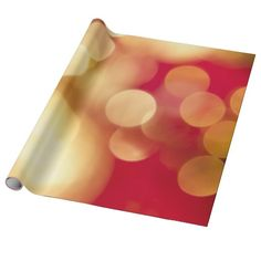 Red and Gold Sparkles Wrapping Paper