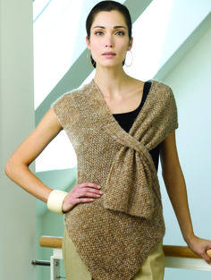 Tyra top Tahki Stacy Charles, Inc., Supplying Knitters with Fabulous Fibers and Yarn Not crochet but easily transferred. Knitting Patterns Free, Knit Patterns, Free Knitting, Free Pattern, Simple Knitting, Top Pattern, Knit Or Crochet, Crochet Shawl, Knit Vest Pattern