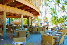 Open air deck at Jellyfish Restaurant in Bavaro-Punta Cana, Dominican Republic. This place is great for wedding and other special events or group dinners.