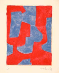design-is-fine:  Serge Poliakoff, Composition bleue et rouge, 1966. Galerie Ludorf, Düsseldorf.