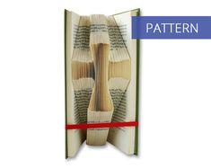 Folded Book Art Pattern - Christian Cross - 110 Folds - Including manual - Bookfolding Pattern - Folded Book Pattern - Book Folding pattern