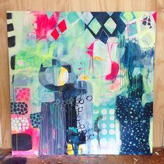Large painting by Mette Lindberg - www.mettesmaleri.dk
