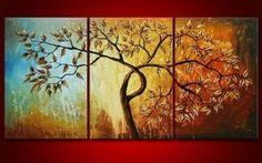 100% Hand Painted Oil Painting 3 Piece Canvas Art Modern Art Wall Art Deco Home Decoration Group Painting Artwork Golden Tree Painting (Unstretch No Frame) galleryworldwide http://www.amazon.com/dp/B00B2GJK3Y/ref=cm_sw_r_pi_dp_OFtLtb0D8RRW2SZZ