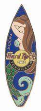 Hard Rock Mermaid Pin Surfboard Yokohama 2004