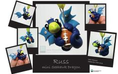 Russ  Handmade mini SEAHAWK OOAK Collectible by LIZZARDDESIGNS, $39.00