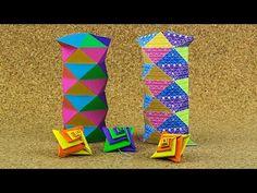 Cajita Geometrica para navidad / origami - YouTube