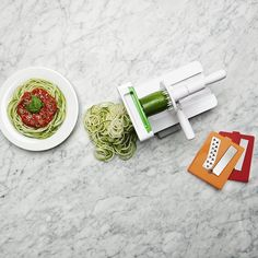 With a vegetable spiralizer, you don't have to sacrifice your favorite pasta dish for the sake of calories. It's a total win-win.   11 Wedding Registry Ideas for Healthy Living