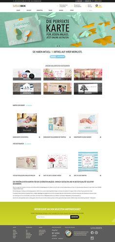 GOLDBEK CARDS Shopwebsite & Postkarten-Konfigurator Poster, Map, Website, Design, Card Wedding, Postcards, Posters, Cards