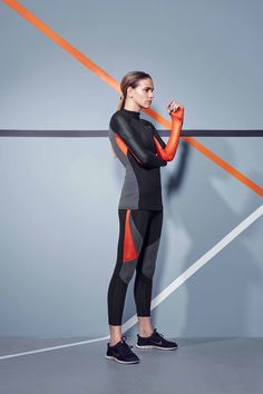 Fashercise Lookbook Winter 2014 CHARLI COHEN NITRO LONG SLEEVE TOP & LASER LEGGINGS