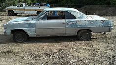 Chevrolet : Nova No Post HTF 1966 NOVA BUILDER BARN FIND NO POST ORIGINAL V8 AUTOMATIC - http://www.usabarnfinds.com/archives/2700