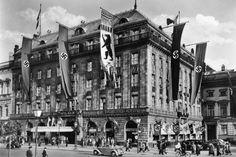 Hotel Adlon-Es gab Zeiten,in denen auch die Hakenkreuzfahne an der Fassade hing....