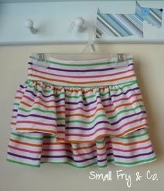ruffle t-shirt skirt tutorial so cute!