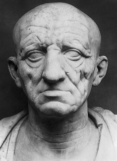 Head of a Roman patrician from Otricoli.Marble. Ca. 75—50 BC.Height ca. 35 cm.Rome, Torlonia Museum.