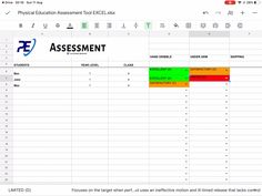 If you are looking to boost the way you assess you students in physical education. Then this tool is for you. Available both on google drive and excel that can be used either on your ipad/tablet/phone or laptop. Containing every fundamental movement skill and physical education assessment area. #physicaleducation