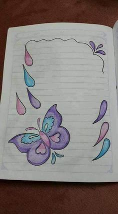 File Decoration Ideas, Page Decoration, Boarder Designs, Page Borders Design, Project Cover Page, Front Page Design, Wallpaper Nature Flowers, Notebook Cover Design, Butterfly Drawing
