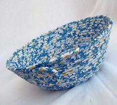 Blue Daisy Bowl Handmade White Daisy Shower by WexfordTreasures, $14.99