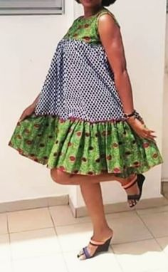 Short African Dresses, Ankara Long Gown Styles, Trendy Ankara Styles, Latest African Fashion Dresses, Short Gowns, African Print Fashion, Short Sleeve Dresses, African Attire, African Wear