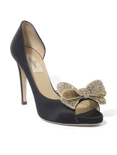 BLING by Valentino #shoes #peeptoe #black #bow