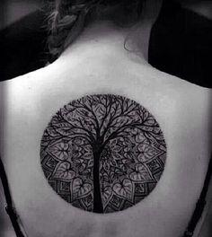 Image result for tattoo tree mandala