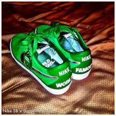 Nike SB x Supreme Bruins • So fresh and do green green!