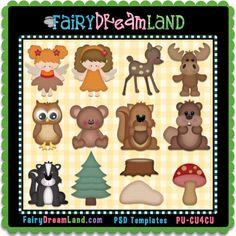 Woodland Friends Cu4Cu Layered Template Collection