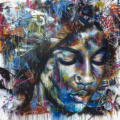 DZine Trip | Spray painted portraits by artist David Walker | http://dzinetrip.com